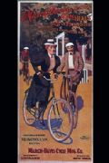 Vintage cycling poster - March Davis cycles